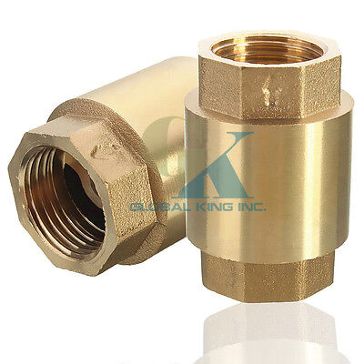 G1-1/4'' Brass In-Line Spring Vertical Check Valve Copper Control Tool 232Psi