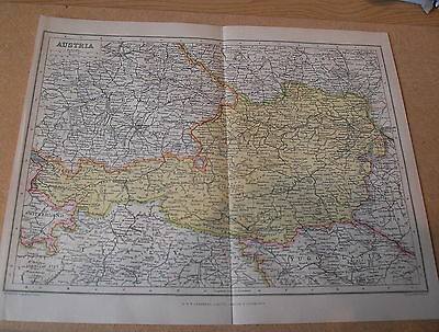 Antique Map Maps Paper Austria 1923  90 Years Old