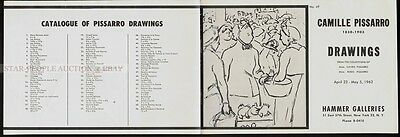 Camille Pissarro - Drawings - April 23 1962 - Catalogue * Very Rare