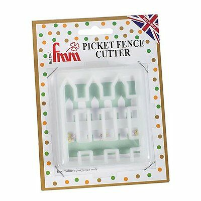 FMM Picket Fence Cutter Set House Garden FenceCake Decorating Sugarcraft