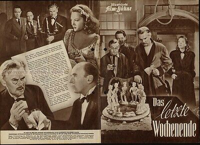 Agatha Christie - Fitzgerald - And Then There Were None * German Movie Program!