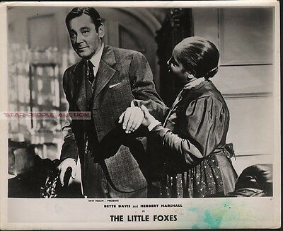 HERBERT MARSHALL - THE LITTLE FOXES * UK hand coloured LOBBY CARD