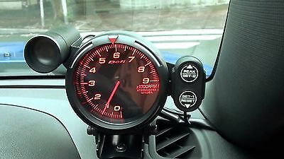 80mm Link Meter Racer Defi Style Gauge Tachometer Red / Blue / White 11000 RPM