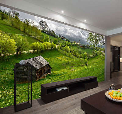 Pastoral Scenery Romania Full Wall Mural Photo Wallpaper Print Kid Home 3D Decal
