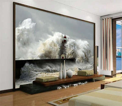 Tsunami Tidal Wave Sea Full Wall Mural Photo Wallpaper Print Kids Home 3D Decal