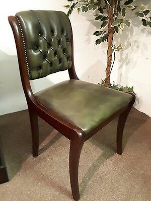 Canterbury Chair - Mahogany / Olive Leather