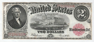 Circulated 1917 $2 United States Note--Speelman/White, Ships Insured Free