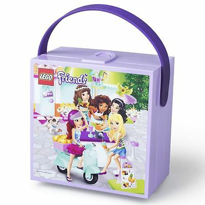 LEGO Friends Lunchbox with Handle Children Fun School Lunch Box Container Purple