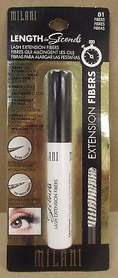 Milani Length In Seconds Lash Extension Fibers 0.028 oz NEW in PACKAGING