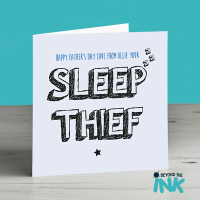 Cute Fathers Day Card Sleep Thief Birthday Card For Dad From