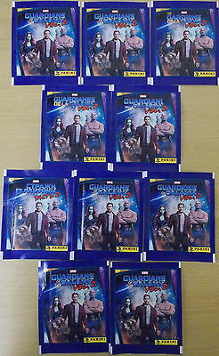 Guardians Of The Galaxy Vol 2 ~ Panini Sticker Collection ~ 10 x Sealed Packs