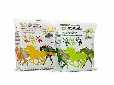 Equilibrium VITAMUNCH Horse Healthy Treat Supplement HEDGEROW or MEADOW 5x1kg