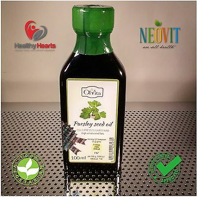Parsley oil cold pressed, unrefined 100ML - Glass Bottle
