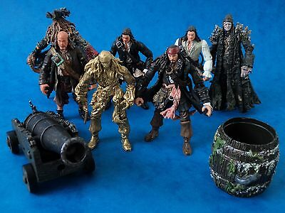"""Action Figures Bundle - PIRATES OF THE CARIBBEAN - Approx 3.75"""" Toys"""