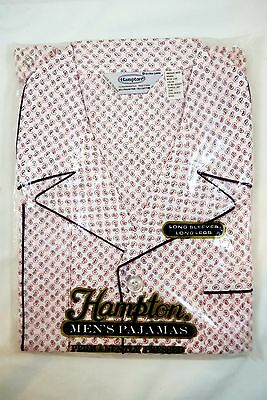 Vintage, Sealed NOS Men's Hampton Pajamas - Long Sleeve With Breast Pocket, XL