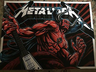 Metallica Worldwired Tour Poster Baltimore Md 5/10/2017 Event Litho #' To 450