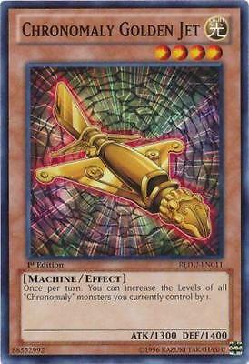 Chronomaly Golden Jet REDU-EN011 / 1ST EDITION / MINT! / YU-GI-OH