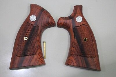 Target Style Wood Grips for S&W K/L FRAME ROUND BUTT REVOLVERS # Random