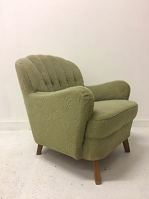 vintage 1950s mid century German Cocktail Lounge Armchair chair