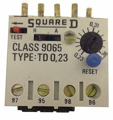 Square D Thermal Overload Relay TD 0,23