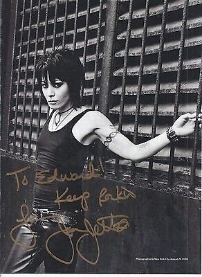 JOAN JETT Signed Photo Autographed Magazine Pic THE BLACKHEARTS Authentic COA