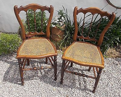 chairs, pair of pretty French chairs, antique French  chairs