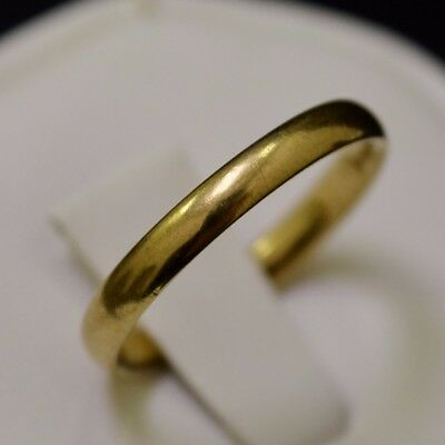 9k Yellow Gold Band, Ring Size 7
