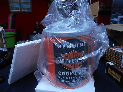 Vintage 99 Harley Davidson Cookie Oil Can Ceramic Cookie Jar