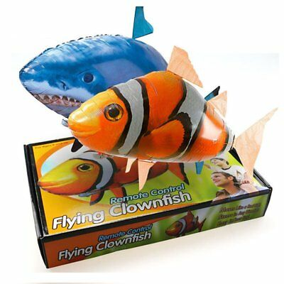 Remote Control Inflatable Balloon Air Swimmer Flying shark Fish Radio Blimp New