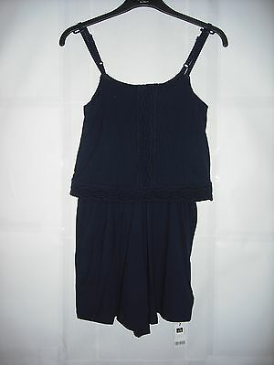 BNWT Dunnes Pretty Navy Jersey Playsuit.  Girls. Age 9-13 Years
