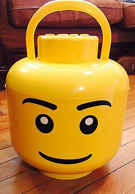 Lego Sort And Store Large Minifig Minifigure Head Sift Storage Yellow Boy Bucket