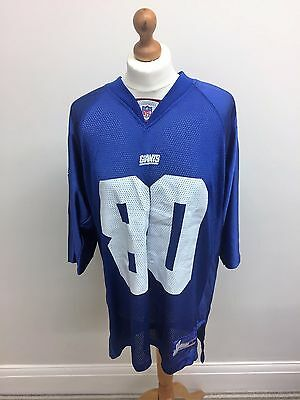 American Football New York Giants Jersey Shockey 80 Men's Large NFL Reebok Blue