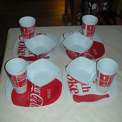 Coca-Cola Brand Dinnerware By Gibson - Four(4) Settings