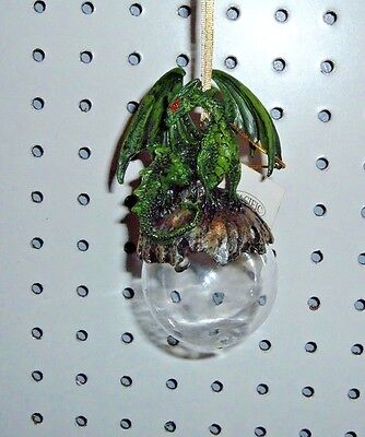 """Green Lord Of The Forest Resin On Acrylic Bubble Ornament 4 1/2"""" X 3"""" 11463 New"""