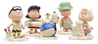 Lenox Beach Party Peanuts Snoopy Charlie Brown Figurine *New in Box*