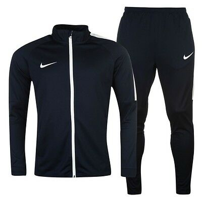 Nike Sports Football Tracksuit jacket and pants Blue Navy White all sizes new
