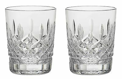 Pair of Waterford Crystal Lismore 12 oz. Double Old Fashion Glasses *New in Box*