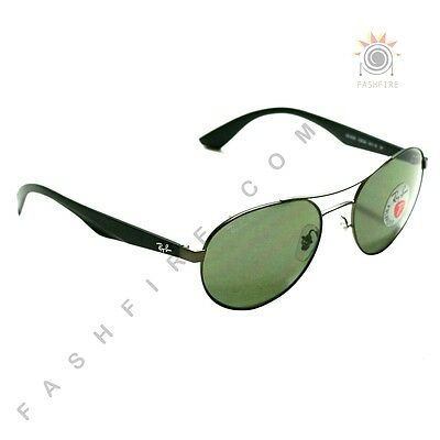 67030c90a2a Ray Ban Metal Gunmetal Sunglasses Polarized  RB 3536 029 2A 55 18 3P  170