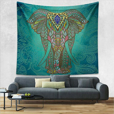 Queen Hippie Tapestry Wall Hanging Indian Mandala Elephant Tapestries Bedspread