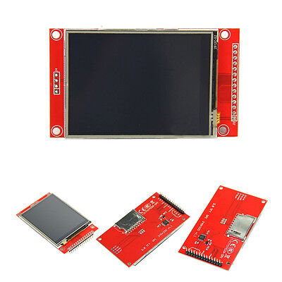 "TFT 2.8"" 240x320 ILI9341 5V/3.3V SPI LCD Serial Port Module+PBC Adapter Micro SD"