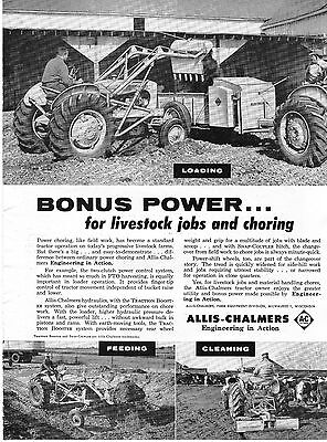 1957 Dealer Print Ad of Allis Chalmers AC Tractor Snap-Coupler Traction Booster
