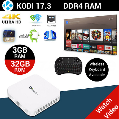 TX8 TV BOX Android 6.0 Octa Core 4K Smart Media Player Fully Loaded 3GB 32GB