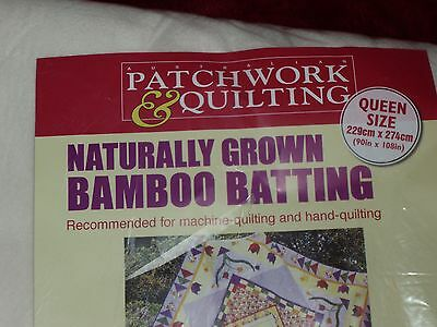 Bamboo Batting (100%) Quilt Wadding (140gsm) 229cmx274 Queen Size AP&Q
