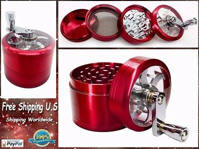 Spice Herb Grinder 55mm 4 Piece Tool For Tobacco Smoking Mini Chromium Crusher