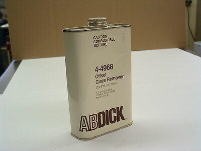 AB Dick Offset Glaze Remover 4-4968 --- Vintage unopened can