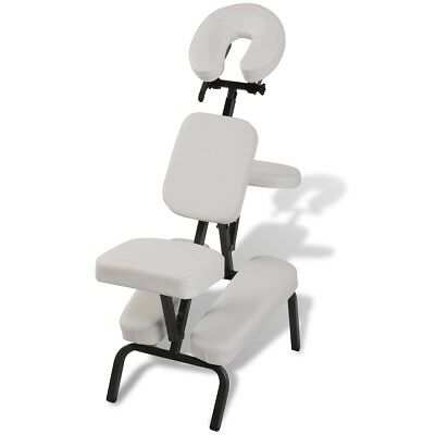 #Iron Foldable Portable Massage Chair Beauty Therapy Bed Tattoo Waxing White