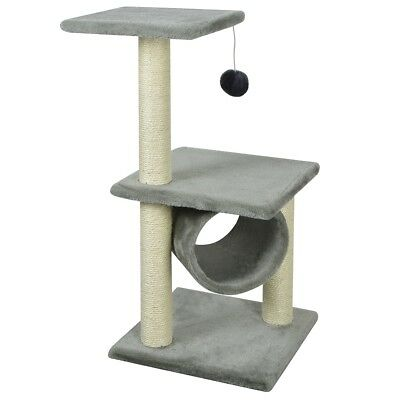 #vidaXL Cat Scratching Post Tree Scratcher Furniture Gym Play House Toy 65cm Gre