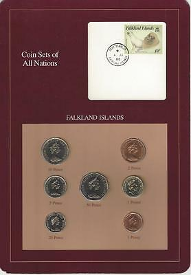 Coin Sets of All Nations - Falkland Islands, 7 coin set