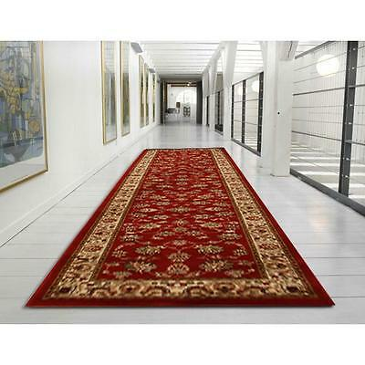Hallway Runner Hall Runner Rug Traditional Red 5 Metres Long FREE DELIVERY