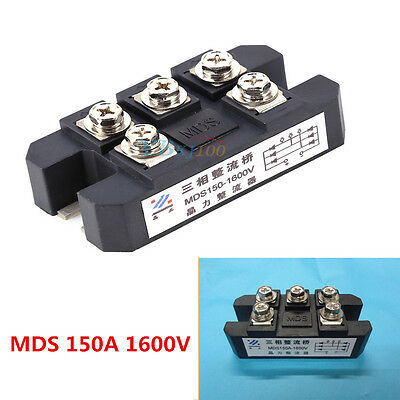 MDS150A 3-Phase Full Wave Diode Bridge Rectifier 150A Amp 1600V Copper Newest